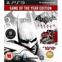 Promoção! Batman: Arkham City Game Of The Year Edition (ps3)
