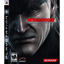 Metal Gear Solid Iv Mgs4 Guns Of The Patriots Ps3