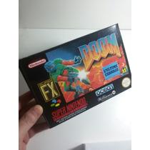 Caixa De Fitas De Super Nintendo Doom