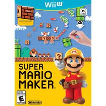 Super Mario Maker + Artbook- Nintendo Wii U - Novo - Lacrado