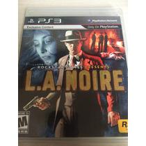 L.a. Noire Somente Para Ps3 Exclusiv Content Novo E Lacrado