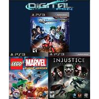 Injustice Gods Among Us + Dc Universe + Lego Marvel Ps3