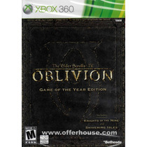 The Elder Scrolls Iv 4 Oblivion Game Of The Year Xbox 360