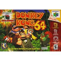 Jogo Donkey Kong 64 Original + Cartucho De Expansão