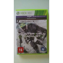 Jogo Splinter Cell Blacklist Xbox 360 Original Semi Novo