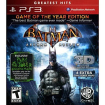 Batman Arkham Asylum Game Of The Year Edition - R1 - Lacrado