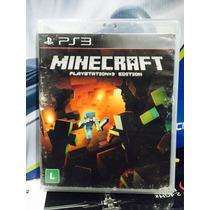 Jogo Minecraft Playstation 3, Semi Novo, Midia Impecávelimpe