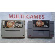 Nba Jam + Nba Jam 2 Para Super Nintendo