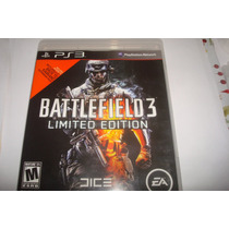 Ps 3 Jogo Battlefield 3 Limited Edition Americano Usado