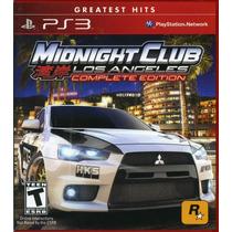 Midnight Club Los Angeles: Complete Edition - Ps3 - Lacrado