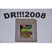 Turtles Fall Of The Foot Original P/ Nintendo Game Boy!!!
