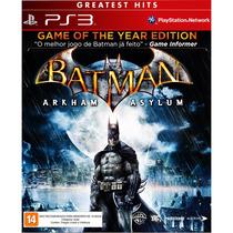 Batman Arkham Asylum Frete Grátis Jogo Ps3 Sdgames Garantia