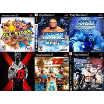 Wwe All Stars Playstation 2 (kit 6 Jogos Ps2 Luta Wwe 13