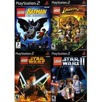 Coleção Lego Para Play 2 (kit 4 Jogos Ps2 Infantil