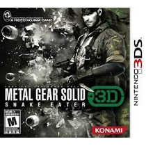 Metal Gear Solid 3d Snake Eater. Game Nintendo 3ds.