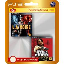 La Noire + Red Dead Redemption! 2 Jogos!! (código Ps3)