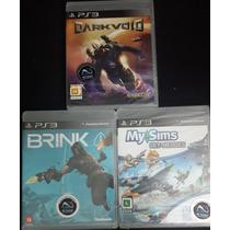 Kit 3 Jogos Originais Lacrados Ps3 Brink Darkvoid My Sims