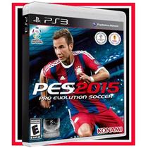 Pes 2015 Br Futebol Português Ps3 Blu-ray Game Original Bra