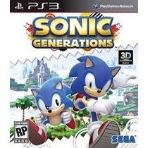 Sonic Generations Ps3 Usado Original Midia Fisica