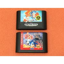 Cartuchos Sonic 2 E Sonic Spinball Originais Americanos