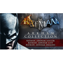 Ps3 Trilogia Batman Arkham Asylum + City + Origins