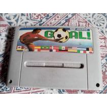Goal Gol Futebol Soccer Super Nintendo Famicom Snes Sfc