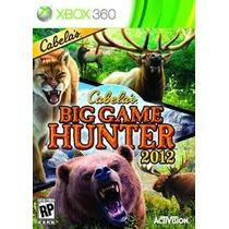 Leilao Big Game Hunter 2012 Cabelas Xbox 360 Original A6426