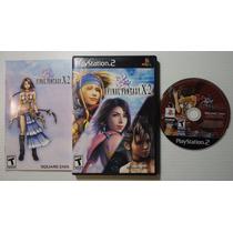 Play 2: Final Fantasy X-2 Rpg Americano Completo! Raríssimo!