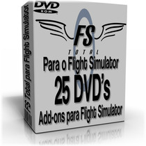 Fs Total Para O Flight Simulator -25 Dvds P/ Fsx Ou Fs2004