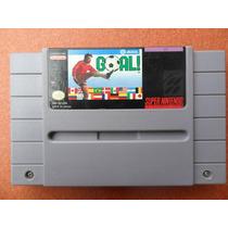 Jogo Goal Original - Super Nintendo Futebol (raro)
