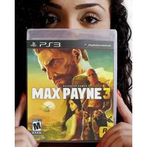 Max Payne 3 - Ps3. Lacrado De Fábrica. Pronta Entrega.