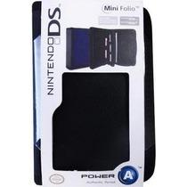 Case Mini Folio Nintendo Ds Lite Ou Dsi - Cor Preto