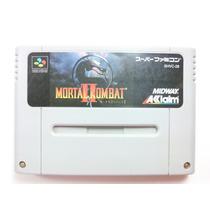 Cartucho Super Nintendo/famicom - Mortal Kombat 2 Original
