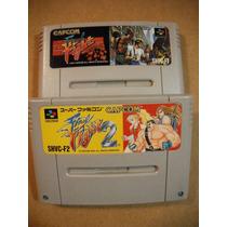 Raro Final Fight 1 E 2 Super Famicom Original Capcom 100%