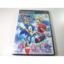 Jogo Playstation Two (2) - Sonic Heroes Original Japones