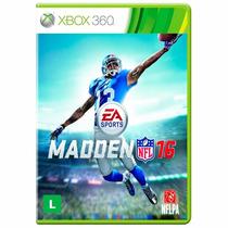 Madden Nfl 16 Xbox 360 Mídia Física Novos + Pôster Brinde