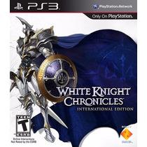 Jogo Ps3 White Knight Chronicles Original Lacrado M. Física