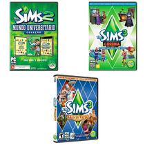 Jogo The Sims 2 + 2 Jogos The Sims 3 - Para Pc
