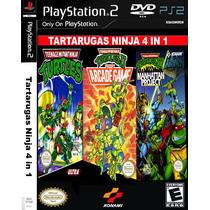 Tartarugas Ninja 4 In 1 - Playstation 2 - Frete Gratis -