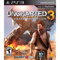 Jogo Uncharted 3 Drakes Deception Ps3 100% Dublado Português