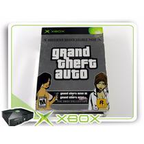 Xbox Gta Double Pack Gta3 E Gta Vice City Xbox Clássico Ntsc