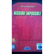 Manual Instruction Booklet Mission Impossible N64 Nintendo