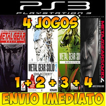 Metal Gear 1,2,3 E 4 Combo Fã - 4 Jogos Para Ps3 Barato !