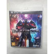 Jogo Ps3 Transformers: Rise Of Dark Spark Frete Grátis