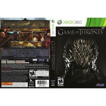 Game Of Thrones Xbox 360 Original Frete R$8,00