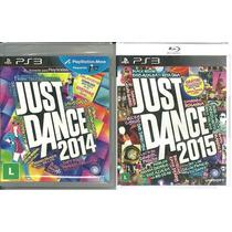 Kit Jogo Just Dance 2014 + Just Dance 2015 Ps3 Midia Fisica