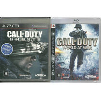 Kit Jogo Ps3 Call Of Duty World At War + Call Of Duty Ghosts