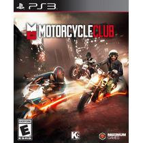 Motorcycle Club Playstsation 3 - Jogo Moto Midia Fisica