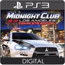Midnight Club Los Angeles Ps3 Psn Cod Jogo Digital