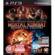 Ps3 Mortal Kombat Komplete Edition Português Pronta Entrega